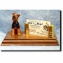 Welsh Terrier Business Card Holder