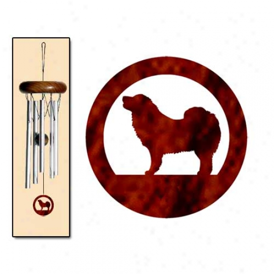 Tibetan Mastiff Wind Chimes X-small Silver