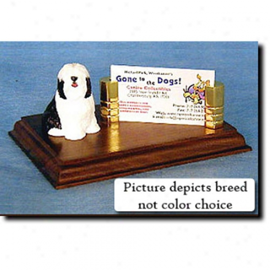 Tibetan Terrier (brown And White) Business Card Holder