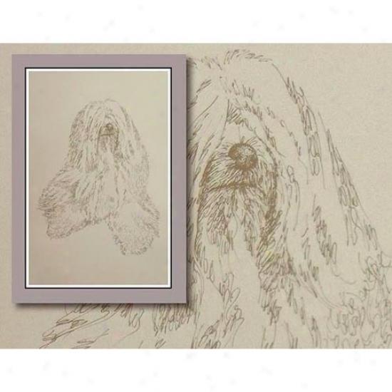 Tibetan Terrier Personalized Lithograph Byy Syephen Kline