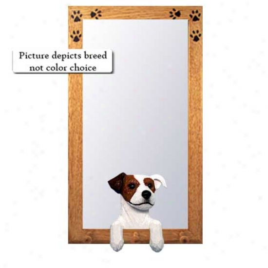 Tri Parson Russell Terrier Hall Mirror With Basswood Walnut Frame
