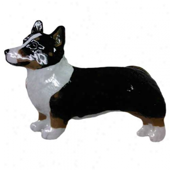 Tri Pembroke Welsh Corgi Hand Painted Pin