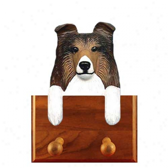 Tri Shetland Sheepdog Leash Holder