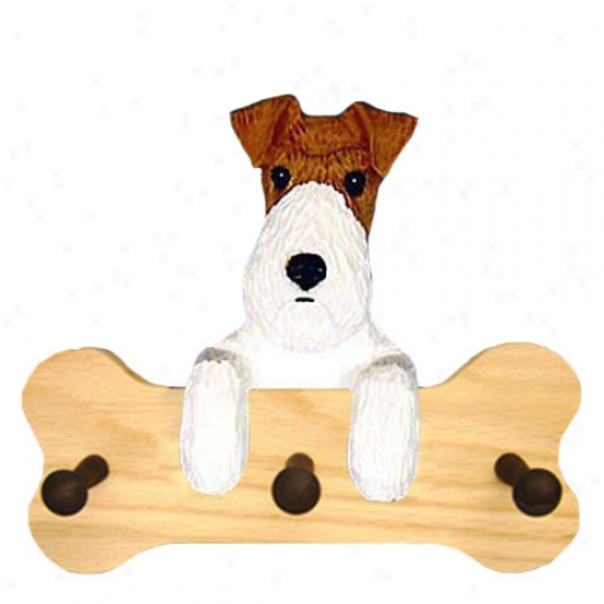 Tri Wire Fox Terrier Bone Hang Up Natural Oak
