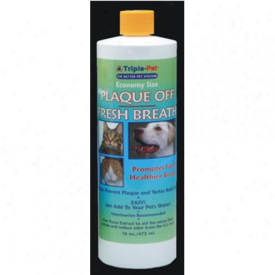 Triple Pet Plaque Off 16oz Exhalation Freshener