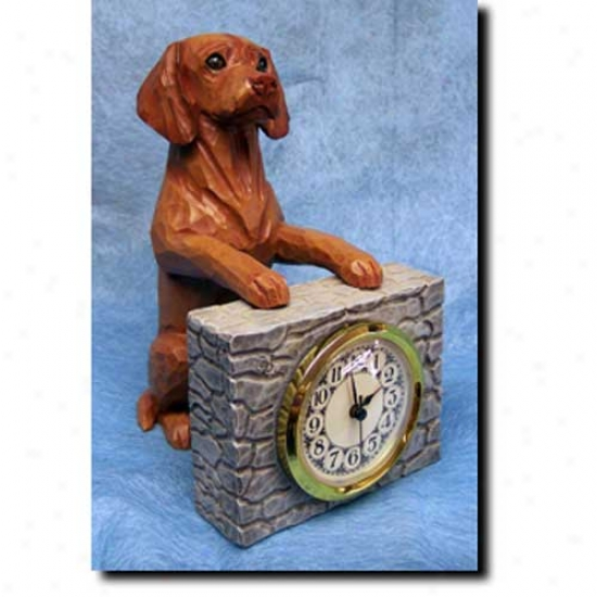 Vizsla Mantle Clock