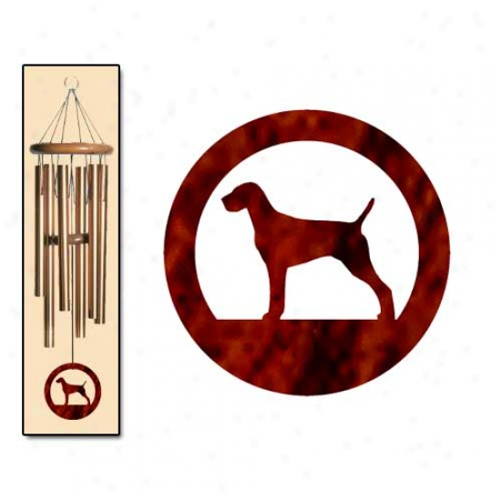 Vizsla Wind Chimes Medium Brobze