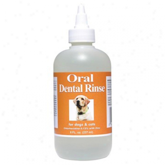 Vps Oral Dental Rinse With Chlorhexidine For Dogs And Cats, 8oz