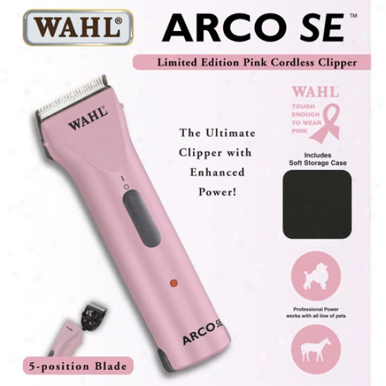 Wahl Arco Se Cordless Clipper - Pink