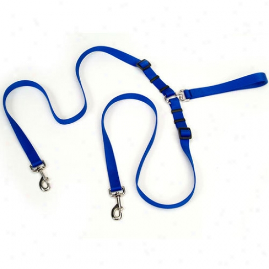 Walk System Leash Double Dog Lead 5--8 Inch X 4 Feet Black