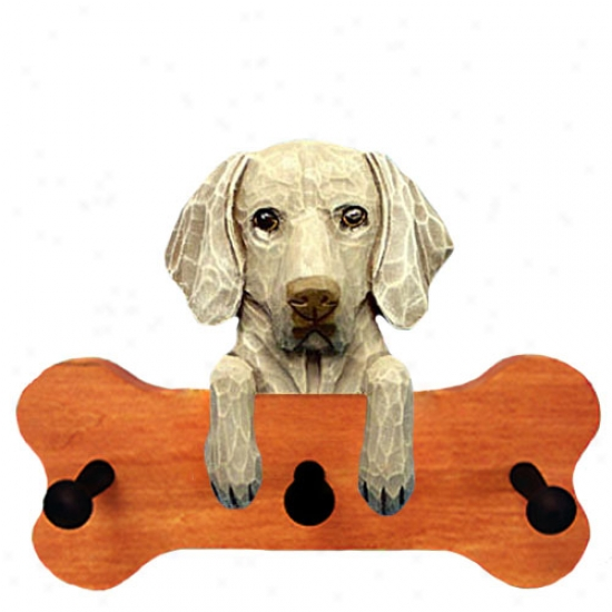 Weimaraner Bone Hang Up Maple Finish