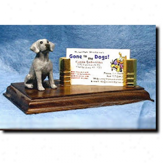 Weimaraner Business Card Holder