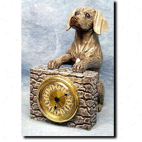 Weimaraner Mantle Clock