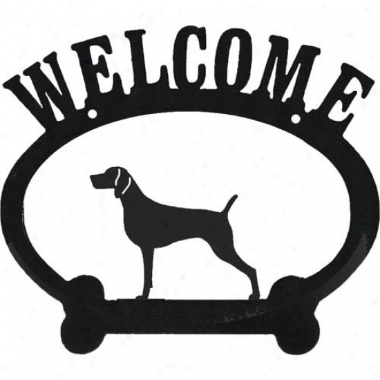 Weimarajr Metal Welcome Sign