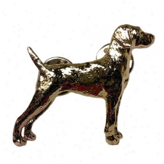 Weimaraner Pin 24k Gold Plated