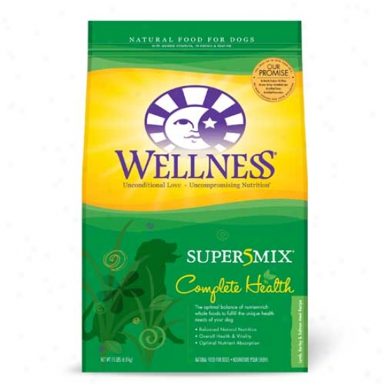 Wellness Complete Soundness Super5mix Lamb Dog Food -15lbsO versize