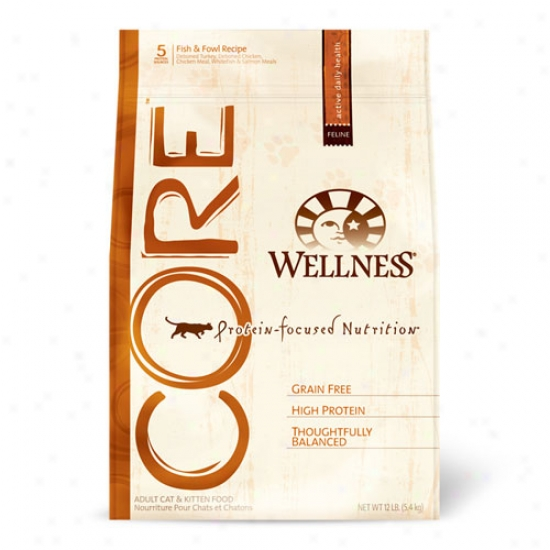 Wellness Core Fish And Fowl For Adult Cats And Kittens 12lbs