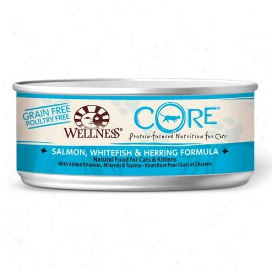 Wellness Core Salmon, Whitefish And Herring Recipe 5.5oz Case Of 24 Cans