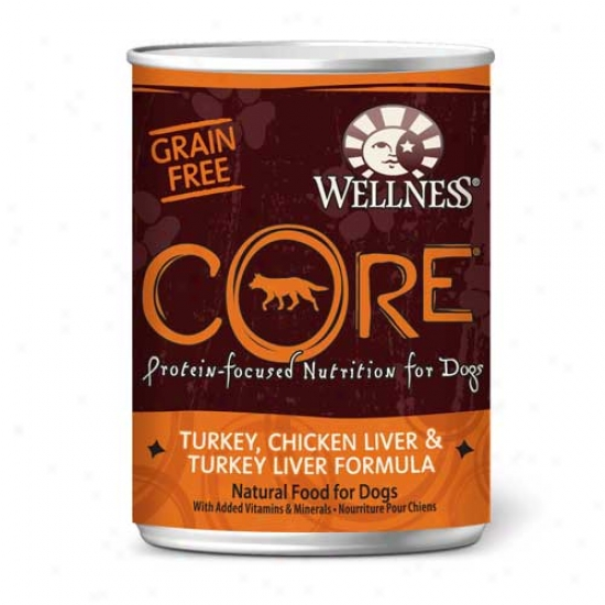 Wellness Core Turkey, Chick Liver And Turk Liver Recipe 12.5oz Case Of 12 Cans