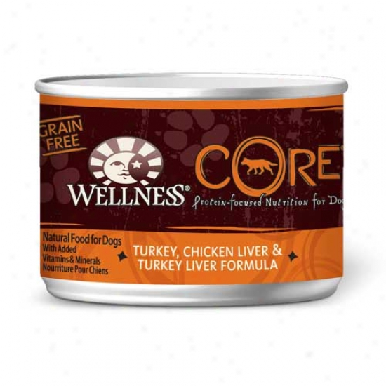 Wellness Core Turkey, Chicken Liver And Turkey Liver Recipe 6oz Declension-form Of 24 Cans