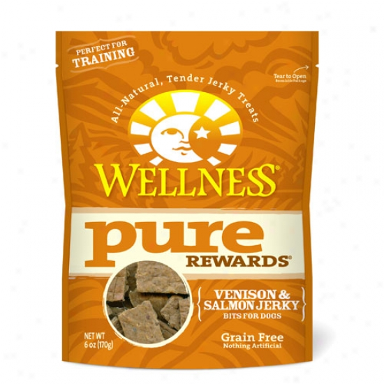 Wellness Pure Rewards Venison And Salmon Dog Treats 6oz