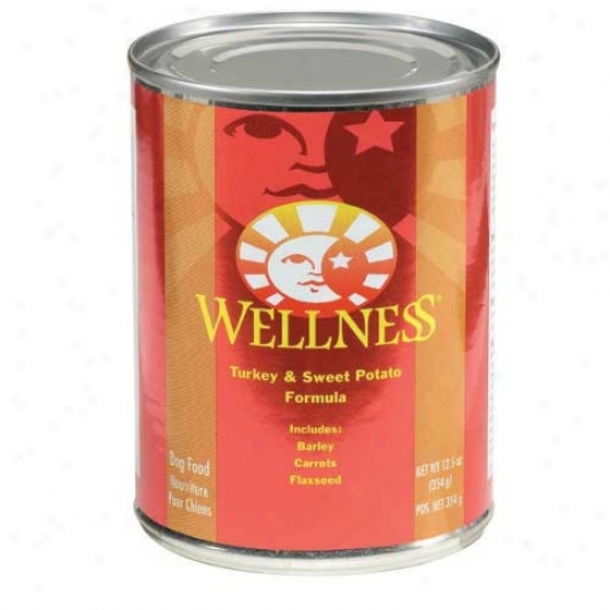 Wellness Turkey And Sweet Potato Recipe 12.5oz Case Of 12 Cans