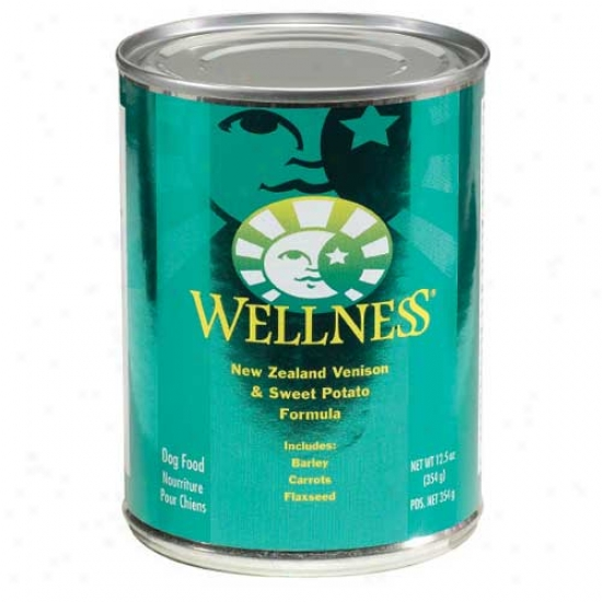 Wellness Venison And Sweet Potato Recipe 12.5oz Case Of 12 Cans