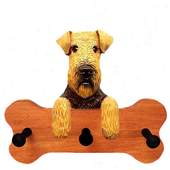Welsh Terrier Bone Hang Up Maple Finish