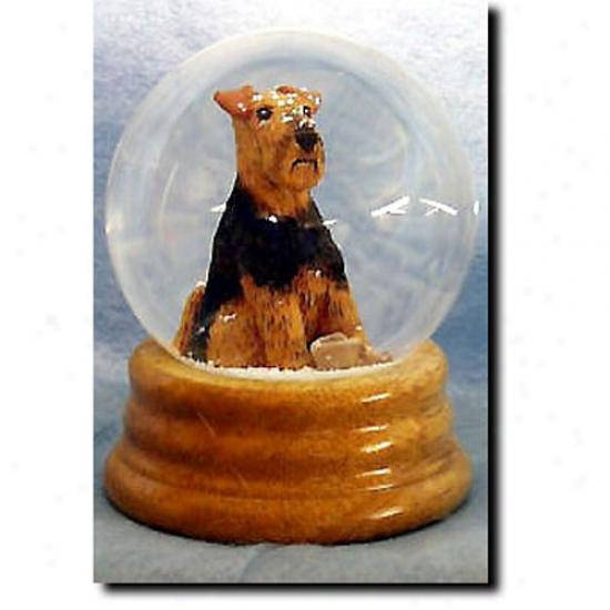 Welsh Terrier Musical Snow Globe
