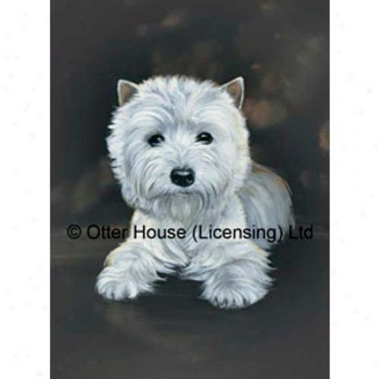 West Highland White Terrier Garden Flag By Pollyanna Pickering