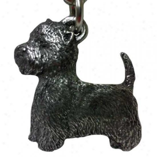 West Highland White Terrier George Harris Pewter Keychain