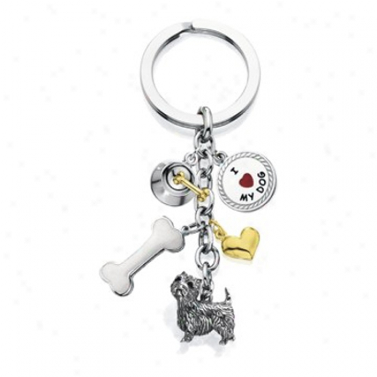 West Highland White Terrier - I Lover My Dog Keychain