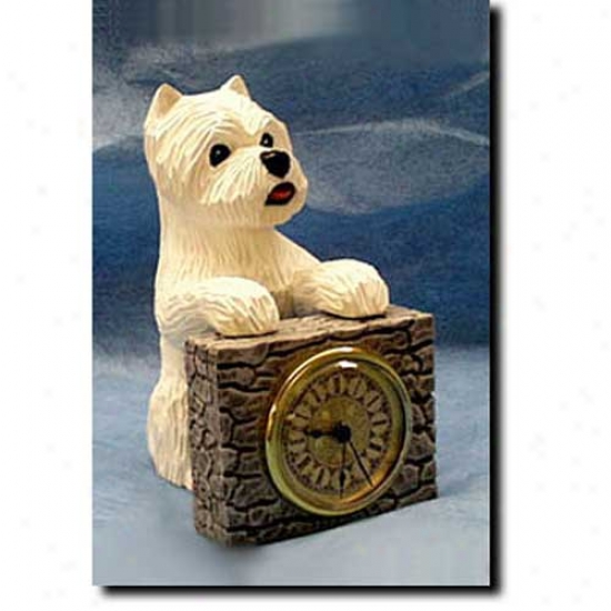 West Highland White Terrier Mantle Clock