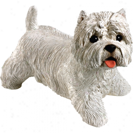 West Highland White Terrier (standing) Original Size Sandicast Sculpture