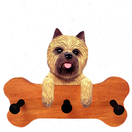 Wheaten Cairn Terrier Boone Hang Up Maple Finish
