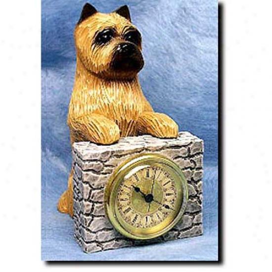 Wheaten Cairn Terrier Mantle Clock