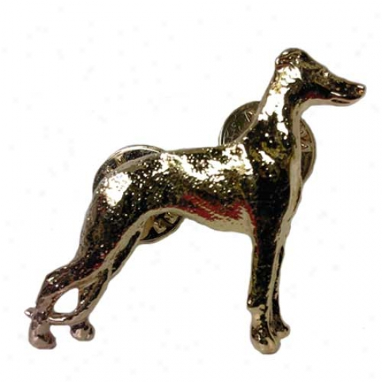 Whippet Pin 24k Gold Plated