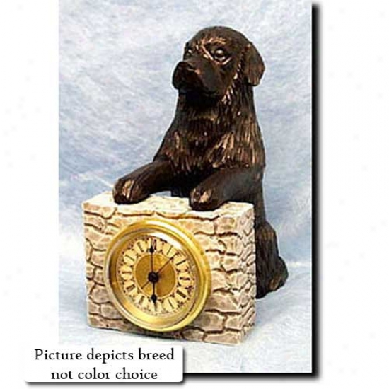 White And Black Newfoundland Mantle Clock
