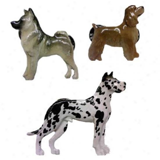 White German Shepherd Dog Hand Painted Pin