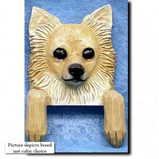 White Longhair Chihuahua Door Topper
