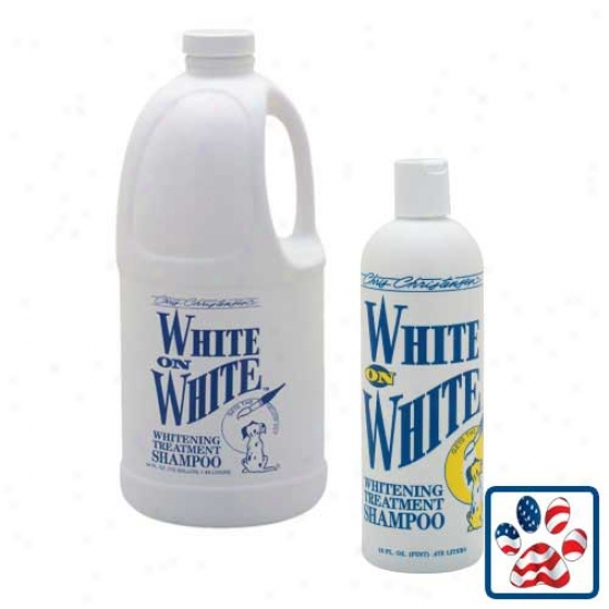 White On White Shampoo 16oz Bottle By Chris Christensen