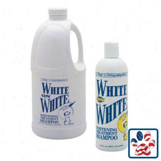 White On White Shampoo 16oz Bottle By Chris Christensen