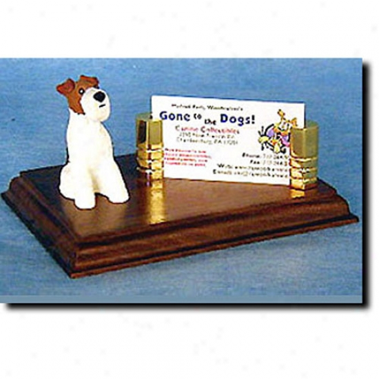 Wire Fox Terrier Business Card Owner