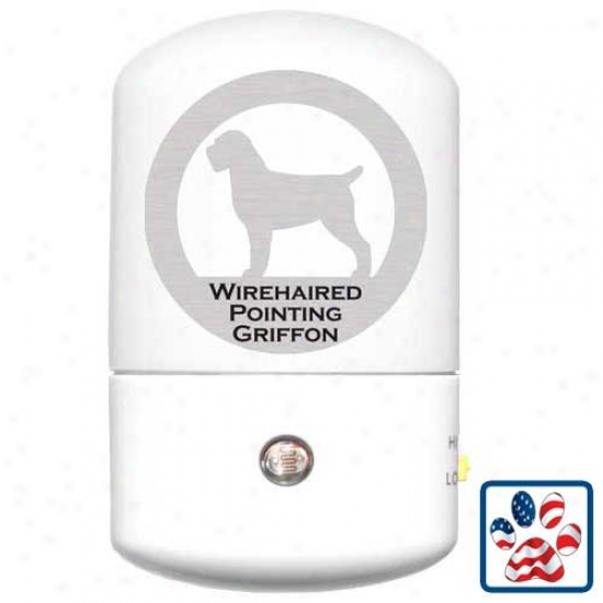 Wirehaired Pointing Griffon Led Night Light