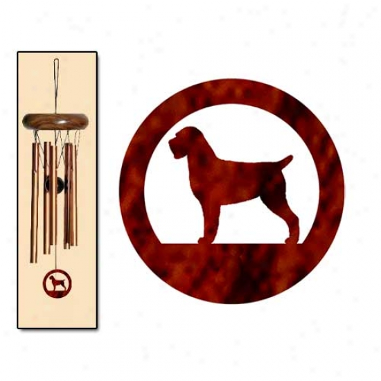 Wirehaired Pointing Griffon Wind Chimes X-small Brown