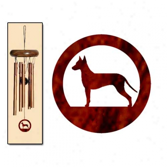 Xoloitzcuintli Wind Chimes X-small Bronze