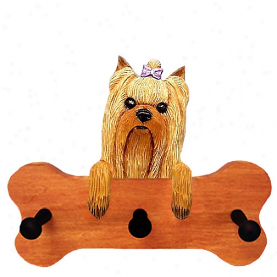 Yorkshire Terrier Bone Hang Up Maple End