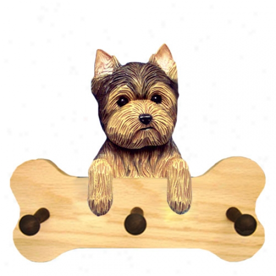 Yorkshire Terrier Bone Hang Up Natural Oak