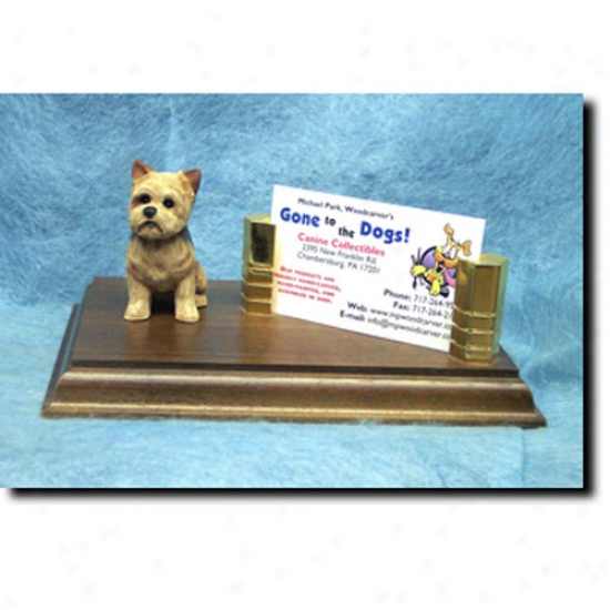Yorkshire Terrier Business Card Holder - Puppy Clip