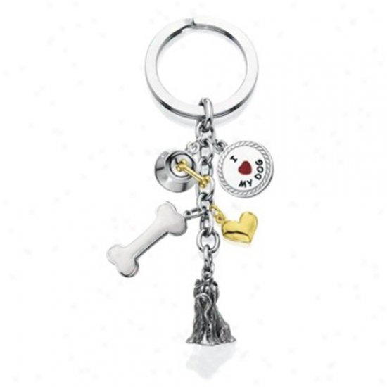 Yorkshire Terriet - I Love My Dog Keychain